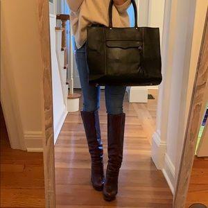 Rebecca Minkoff MAB large black leather tote